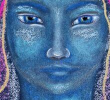 Light Portrait-Blue Bird Girl Sticker