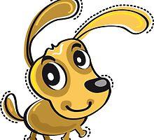 Happy Brown Dog by Silvia Neto