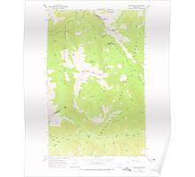 USGS Topo Map Washington State WA Slate Peak 243771 1963 24000 Poster