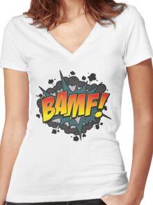 BAMF Women's Fitted V-Neck T-Shirt