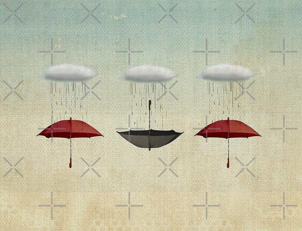 the black umbrella by Vin  Zzep