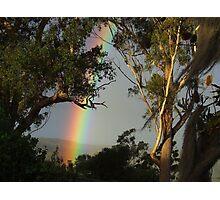 Late Rainbow... Photographic Print