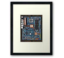Computer Mother Board Framed Print