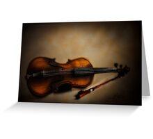 The Violin Greeting Card