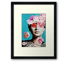 Rose Berry Splash Framed Print
