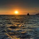 Aeolian seascape at sunset by Andrea Rapisarda