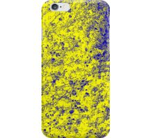 Flower - Yellow/Blue iPhone Case/Skin
