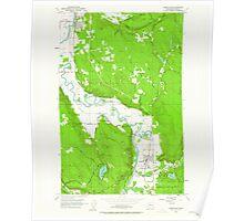USGS Topo Map Washington State WA Carnation 240361 1953 24000 Poster