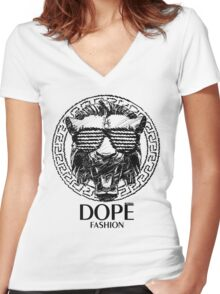 DOPE FASHION!!! VERSACE INSPIRED!!! :D Women's Fitted V-Neck T-Shirt