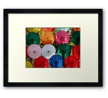 Clash of the Umbrellas   Framed Print