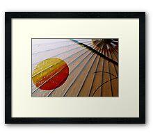 Umbrella at Sunrise Framed Print