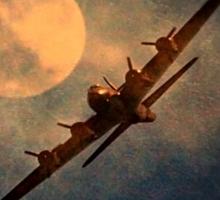 Night Flight Tee Sticker
