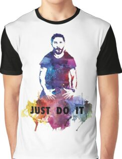 Just Do It Shia Labeouf Colourful Graphic T-Shirt