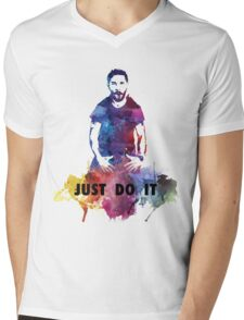 Just Do It Shia Labeouf Colourful Mens V-Neck T-Shirt