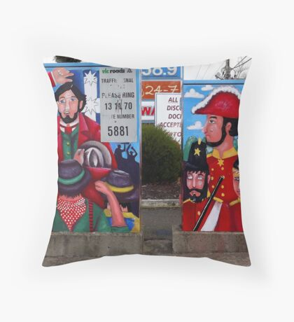 Rumblings on the Goldfields (front view) Throw Pillow