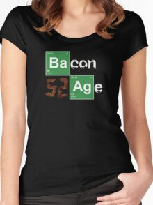 BACON AGE!! Women's Fitted Scoop T-Shirt