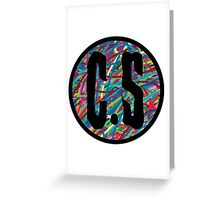 Coffin Squad Initials  Greeting Card