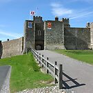 Dover Castle in Kent county by kirilart