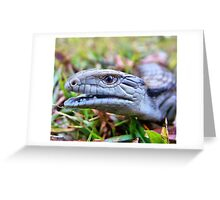 Hungry Baby Blue Tongue Lizard Number 1 Greeting Card