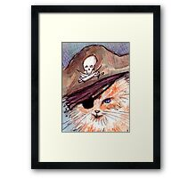 Captain Kitty Framed Print