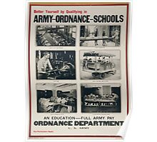 Better yourself by qualifying in Army ordnance schools Poster