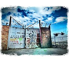 Gated Grunge Photographic Print