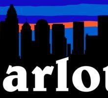 Charlotte - North Carolina. US city. American cites collection. Sticker