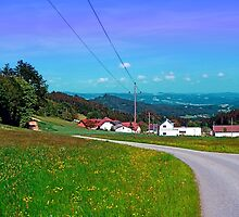 Country road, powerlines, and lots of scenery by Patrick Jobst
