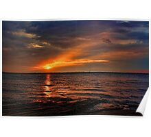 Shale Beach Sunset Poster