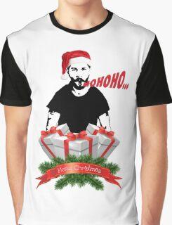 Shia Labeouf Merry Christmas Graphic T-Shirt