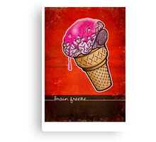 Brain Freeze! Canvas Print
