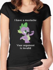 I have a mustache, your argument is invalid. Women's Fitted Scoop T-Shirt