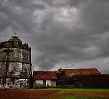 Old Light-house at Fort Aguada, Goa, India by Biren Brahmbhatt
