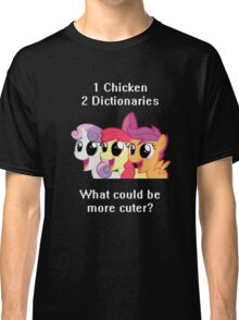 1 Chicken 2 Dictionaries Classic T-Shirt