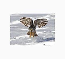 Snow Blast - Northern Hawk owl Unisex T-Shirt