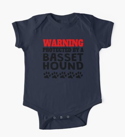 Protected By A Basset Hound One Piece - Short Sleeve