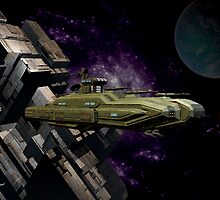 Space Battle Cruiser  by LoneAngel