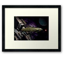 Space Battle Cruiser  Framed Print