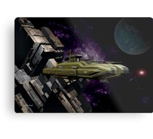 Space Battle Cruiser  Metal Print