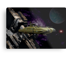 Space Battle Cruiser  Metal Print