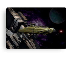 Space Battle Cruiser  Canvas Print
