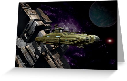 Space Battle Cruiser  by LoneAngel