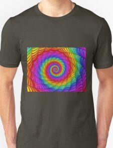 Psychedelic Rainbow Spiral  Unisex T-Shirt