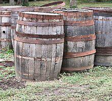 Six Wine Barrels by Monnie Ryan
