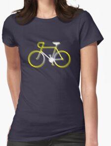 Lightweight White Yellow Velo Womens Fitted T-Shirt