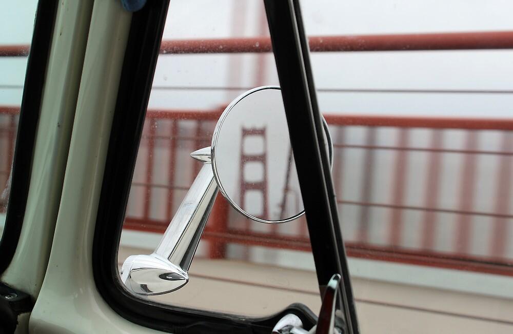 Golden Gate Bridge in a Mirror by Callie Smith