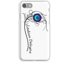 Ladies Delight Peacock Feather iPhone Case/Skin