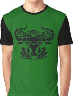 Zodiac Sign Taurus Black Graphic T-Shirt