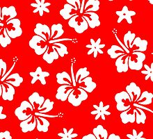 Red Tahitian Case by jean-louis bouzou