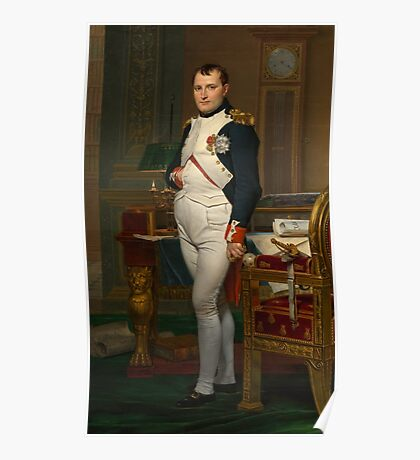 Emperor Napoleon in His Study at the Tuileries  Poster